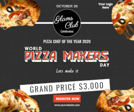 Online Editable World Pizza Makers Day competition Facebook Post