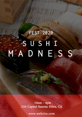 Online Editable Madness Fest 2020 Foodie Flyer Marketing Materials