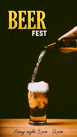 Online Editable Beer Fest with Beer Movement Cinemagraph