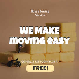 Online Editable House Shifting Service Facebook 3D Post