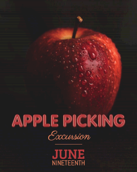 Online Editable Apple Picking with Water Movement Cinemagraph