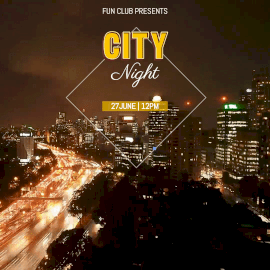 Online Editable City Night with Vehicles Moving Cinemagraph