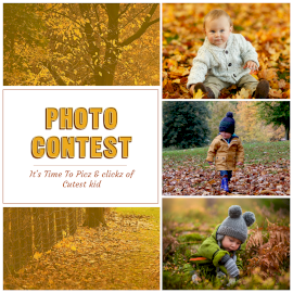 Online Editable Baby Candid Photography 5 Grid Photo Collage