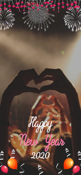 Online Editable Happy New Year Snapchat Geofilter