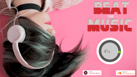 Online Editable Pink Circular Beats Music Audiogram
