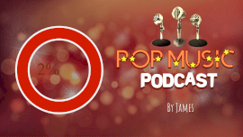 Online Editable Pop Music with Mic Icon Podcast Audiogram
