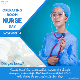 Online Editable Operating Room Nurse Day November 14 Facts Social Media Post