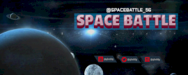 Online Editable Space Battle Gaming Twitch Banner