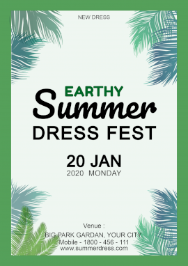 Online Editable Earthy Summer Dress Poster