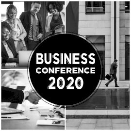 Online Editable Business Conference 2020 Collage 4 Grid Photo Collage