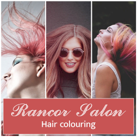 Online Editable Hair Coloring Beauty Salon 3 Grid Photo Collage