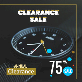 Online Editable Annual Clearance Sale Design with a Branded Watch Instagram Post