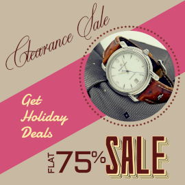 Online Editable Clearance Sale Offer Ad Design with Branded Watch Instagram Post