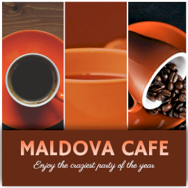Online Editable Coffee Party in Moldova Cafe 3 Grid Photo Collage