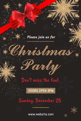 Online Editable Christmas Party Tumblr Graphic