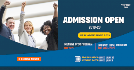 Online Editable UPSC Admissions Open Facebook Ad Post
