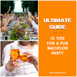 Online Editable Ultimate Guide for Fun Bachelor Party 2 Grid Photo Collage