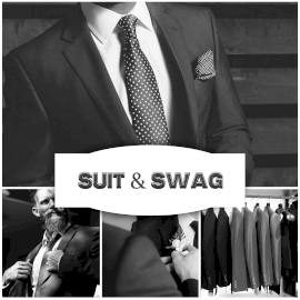 Online Editable Men's Suits and Blazers 4 Grid Photo Collage