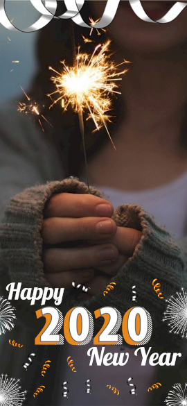 Online Editable New Year Wishes With Fireworks Snapcaht Geofilter