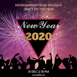 Online Editable New Year 2020 Instagram Post