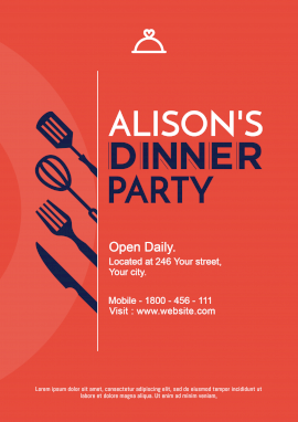 Online Editable Alison's Dinner Party Poster