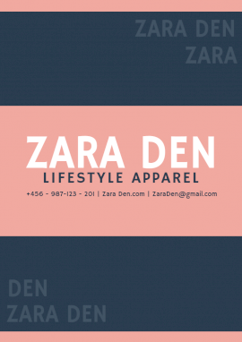 Online Editable Zara Den Lifestyle Apparel Design Media Kit