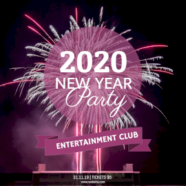 Online Editable New Year Party Invitation with Crackers Instagram Post