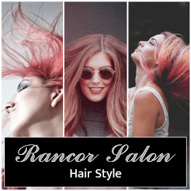 Online Editable Hair Coloring Beauty Salon Ad Design With Models Photo Collage