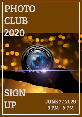 Online Editable Photography Club 2020 Flyer Marketing Materials