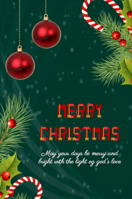 Online Editable Christmas Greeting With Christmas Ornaments Pinterest Graphic