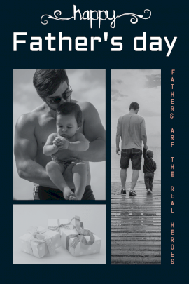 Online Editable Father's Day Wish Pinterest Graphic