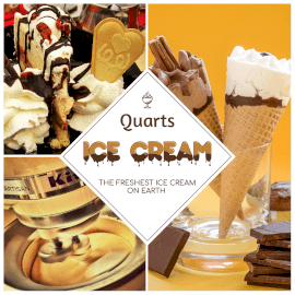 Online Editable Triangle Ice Cream Shop Shapes Photo Collage