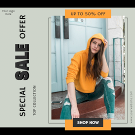 Online Editable Special Summer Sale Social Media Post