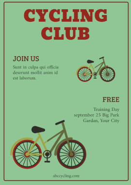 Online Editable Cycling Group Flyer