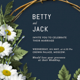 Online Editable Wedding Celebration Invitation