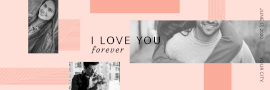 Online Editable Love Forever 3 Square Short Grid