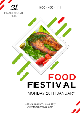 Online Editable Abstract Food Festival Poster