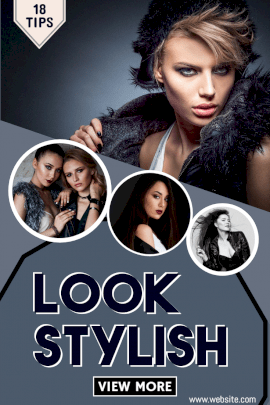Online Editable Look Stylish Tips Blog Graphics Pinterest Graphic