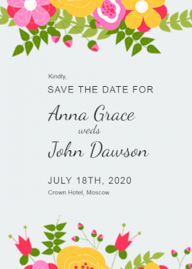 Save The date Wedding  - Invitation