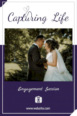 Online Editable Engagement photography Ad Pinterest Graphic