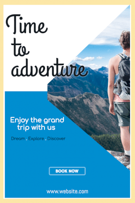 Online Editable Adventure Trip Planner Ad Pinterest Graphic