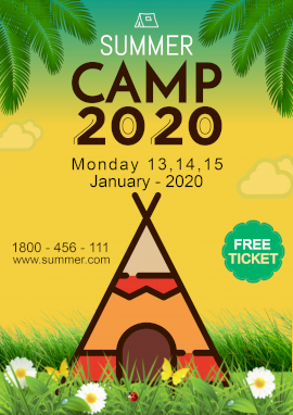 Online Editable Summer Camp 2020 Poster