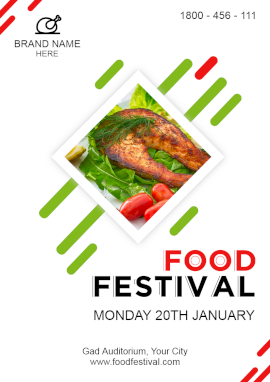 Online Editable Abstract Food Festival Flyer
