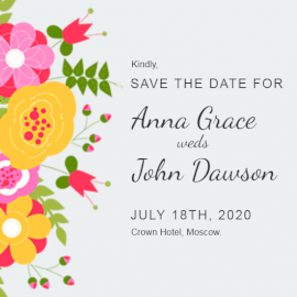 Online Editable Floral Wedding Invitation