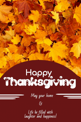 Online Editable Thanksgiving Wish Card Pinterest Graphic