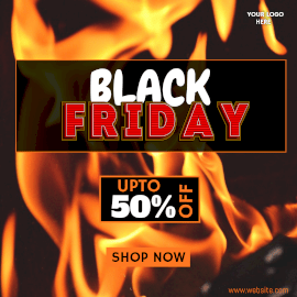 Online Editable Pop-Up 3D Text Black Friday Sale Discount Instagram Post