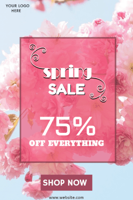 Online Editable Spring Sale Pinterest Graphic