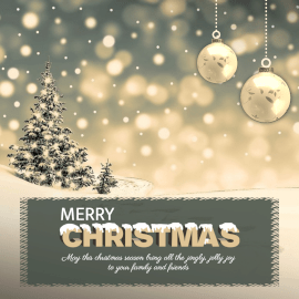 Online Editable Merry Christmas Greeting Instagram Post