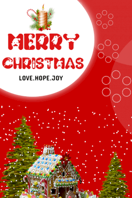 Online Editable Merry Christmas Card Pinterest Graphic