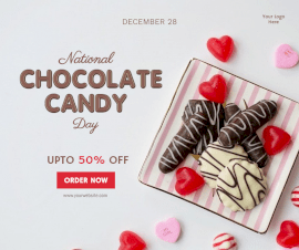 Online Editable National Chocolate Candy Day December 28 Facebook Post